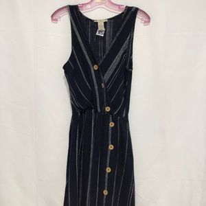 Dear Grace Linen Blend Dress NWT Large